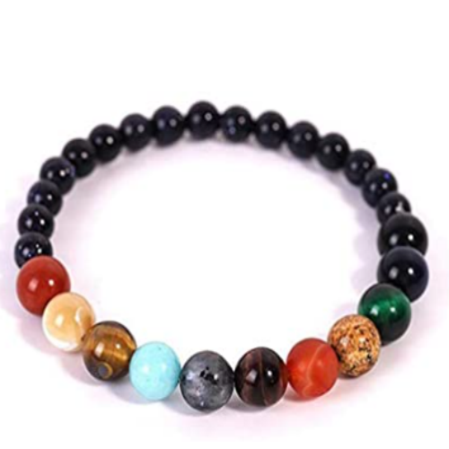 Unisex Unquie Solar System Eight Planet Themed Natural Stone Beaded Bracelet,Natural Stone Yoga Meditation Bracelet Women Bead DIY Jewelry 80% off
