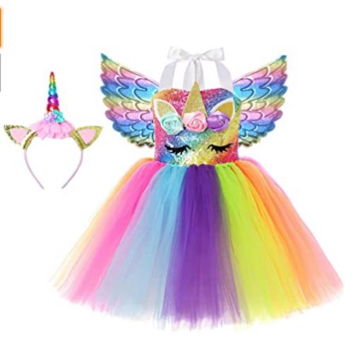 Simplecc Girls Unicorn Dress Outfits Unicorn Princess Costume 35% off
