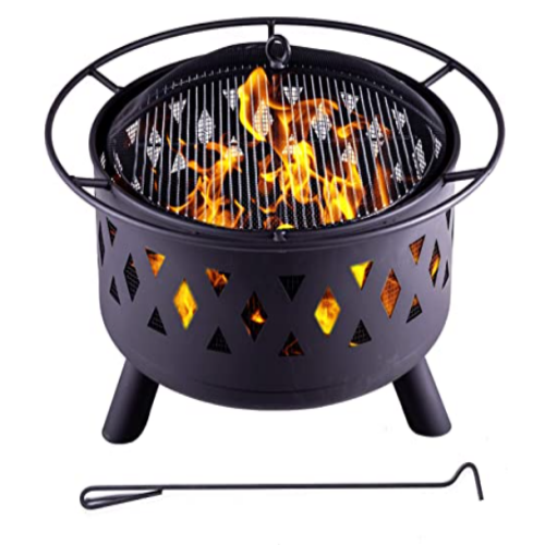 LEGACY HEATING Outdoor Bonfire Burning Wood Grill - 30
