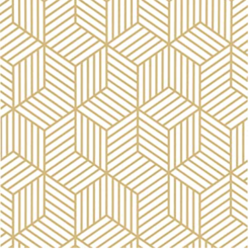 White and Gold Peel and Stick Wallpaper Geometric Hexagon Wallpaper17.7