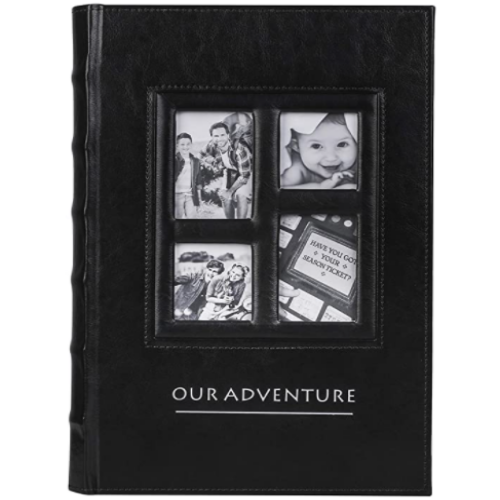 Vintage Leather Photo Albums - 300 Pockets Scrapbook Photo Albums 6x4 - Our Adventure Memory Book 50% off