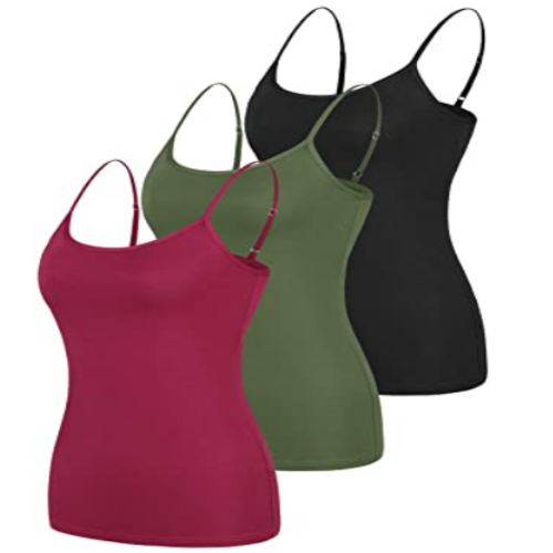 Totoro Camisole for Women Yoga Tank Tops Spaghetti Strap Cami Undershirts Adjustable Tanks Muliti Pack 45% off
