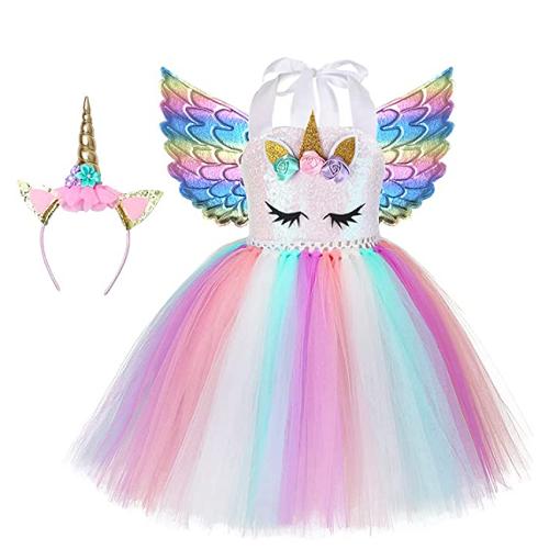 Simplecc Girls Unicorn Dress Outfits Unicorn Princess Costume 40% off
