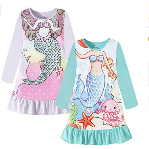 Nightgowns for Girls Kids Pajamas Princess Dress Sleepwear Night Gown 3-10 Years 50% off