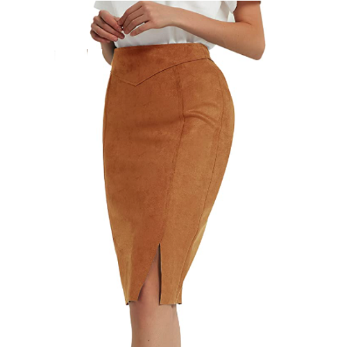 Suede Pencil Skirt 50% off