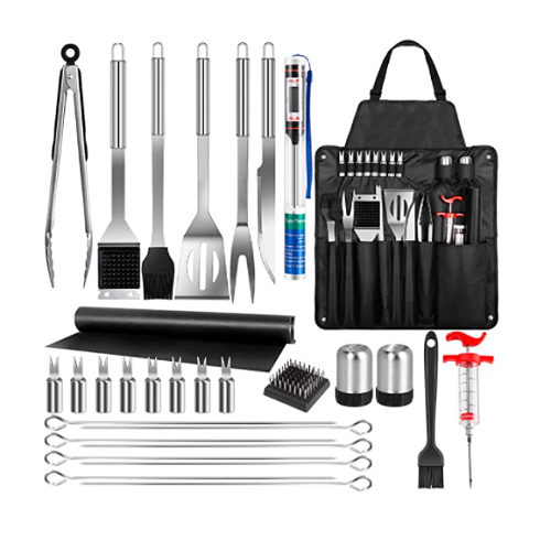 Grill Accessories, 30 Pcs BBQ Grill Set, Stainless Steel Grilling Tools 50% off