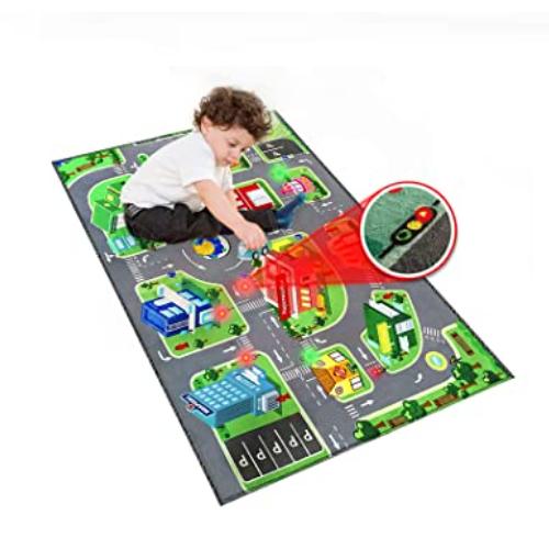 Traffic LED Light Mat Kids Carpet Playmat Rug 50% off