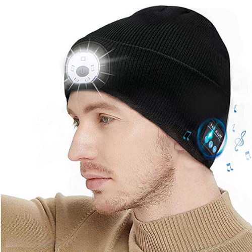 Bluetooth Beanie Hat for Men with Light 50% off
