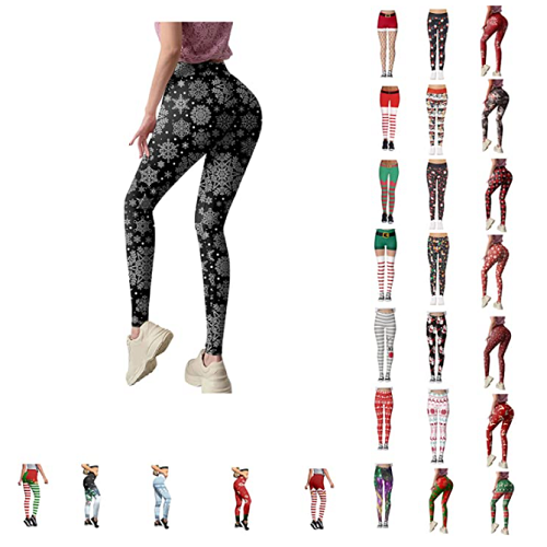 Christmas Leggings for Women Funny Costume Tights Skinny Xmas Printted High Waist Trouser Running Yoga Pants 70% off