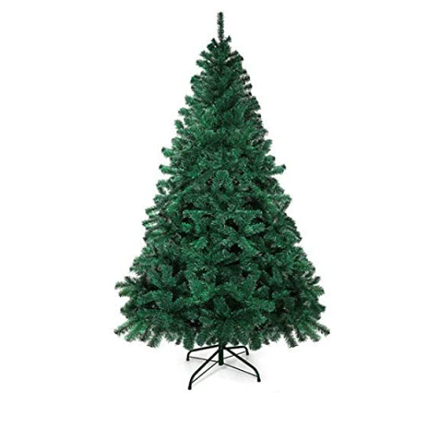 GOLDORO Christmas Tree 7.5ft 800 Branch Tips Artificial Christmas Tree Easy Assembly Foldable Metal 50% OFF