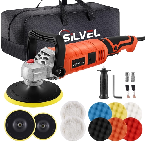 SILVEL Buffer Polisher, 1600W 7 Inch/6 Inch Polisher for Car Detailing