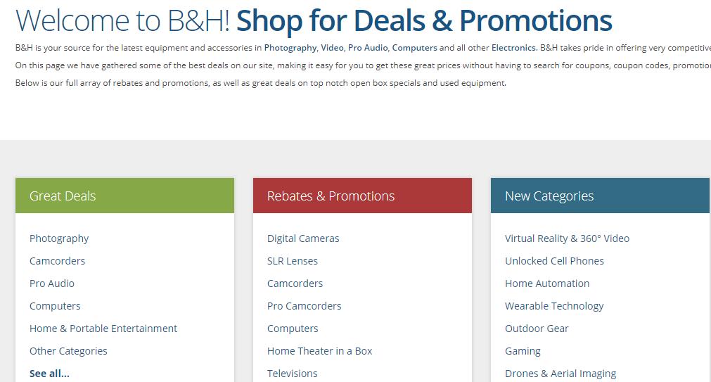 bhphotovideo promo code
