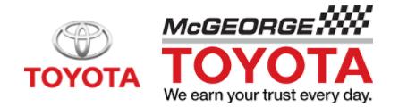 McGeorge Toyota promo code