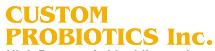 Custom Probiotics promo code