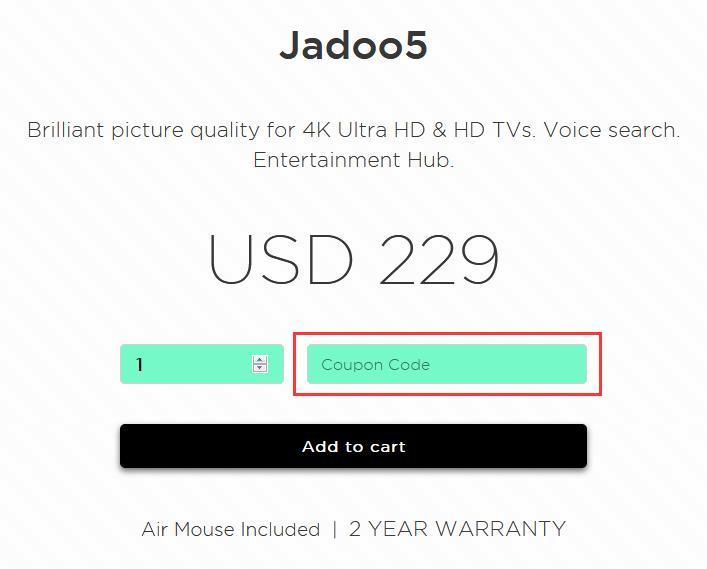 JadooTV Promo Code