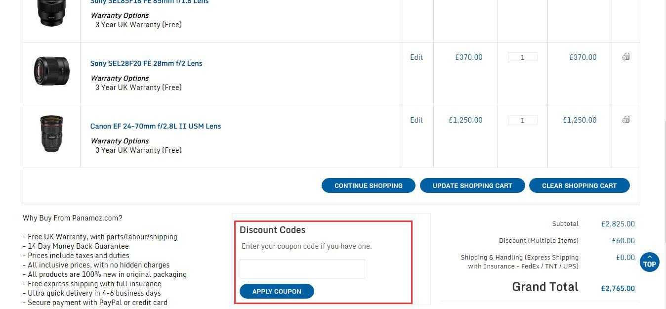panamoz discount coupon