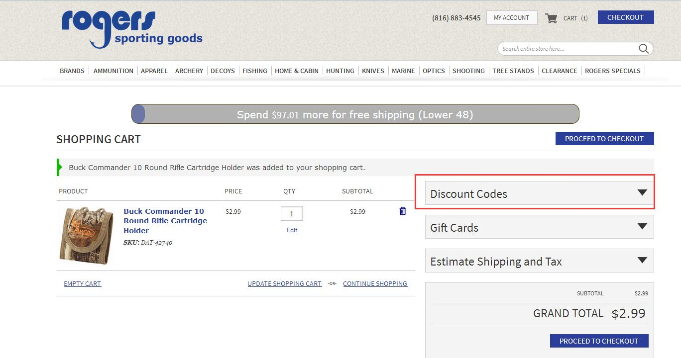 Rogers Sporting Goods Promo Code