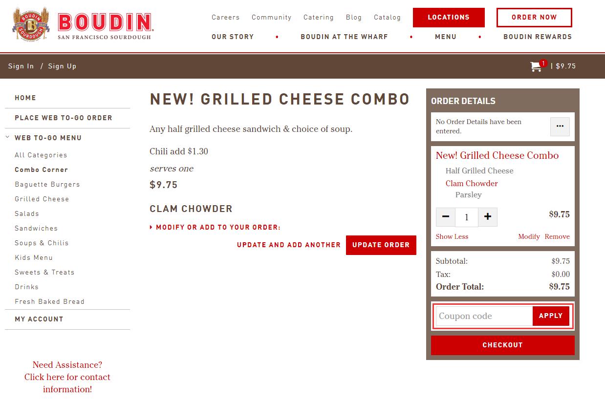 Boudin Bakery Promo Code