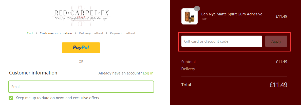 Red Carpet FX Discount Code