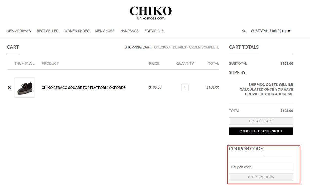 CHIKO Shoes Promo Code
