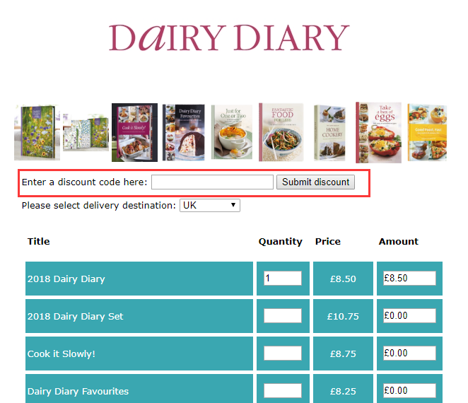 Dairy Diary Discount Code