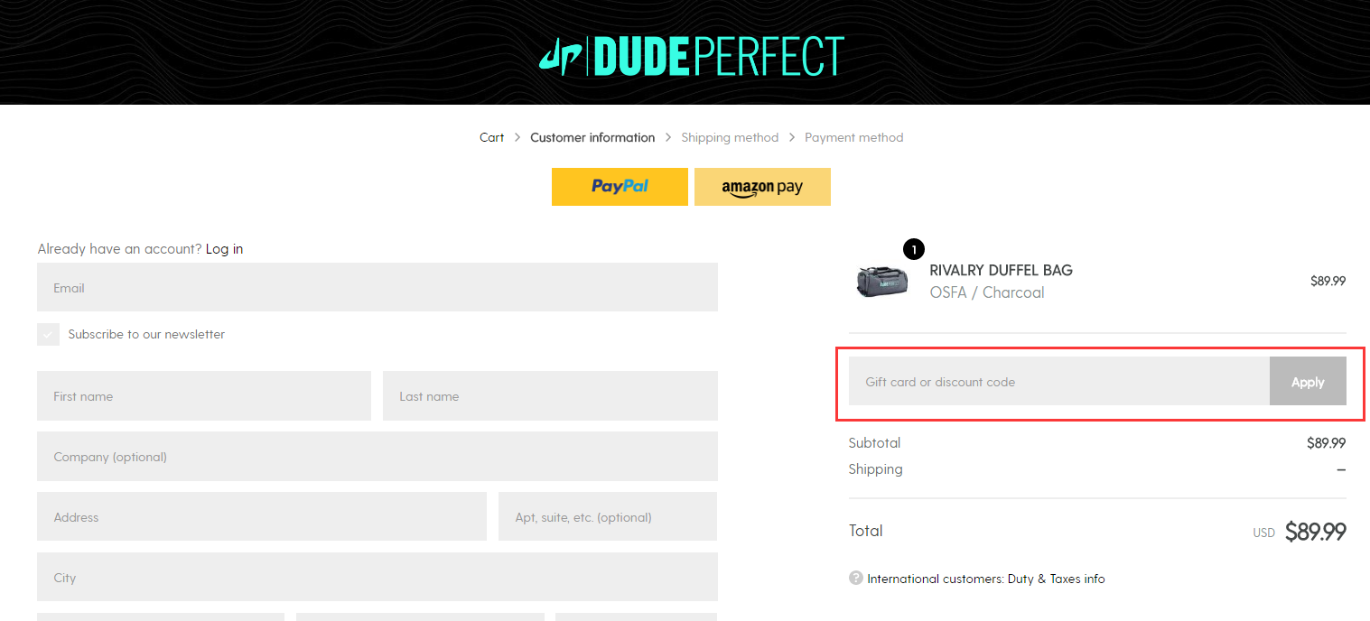 Dude Perfect Promo Code