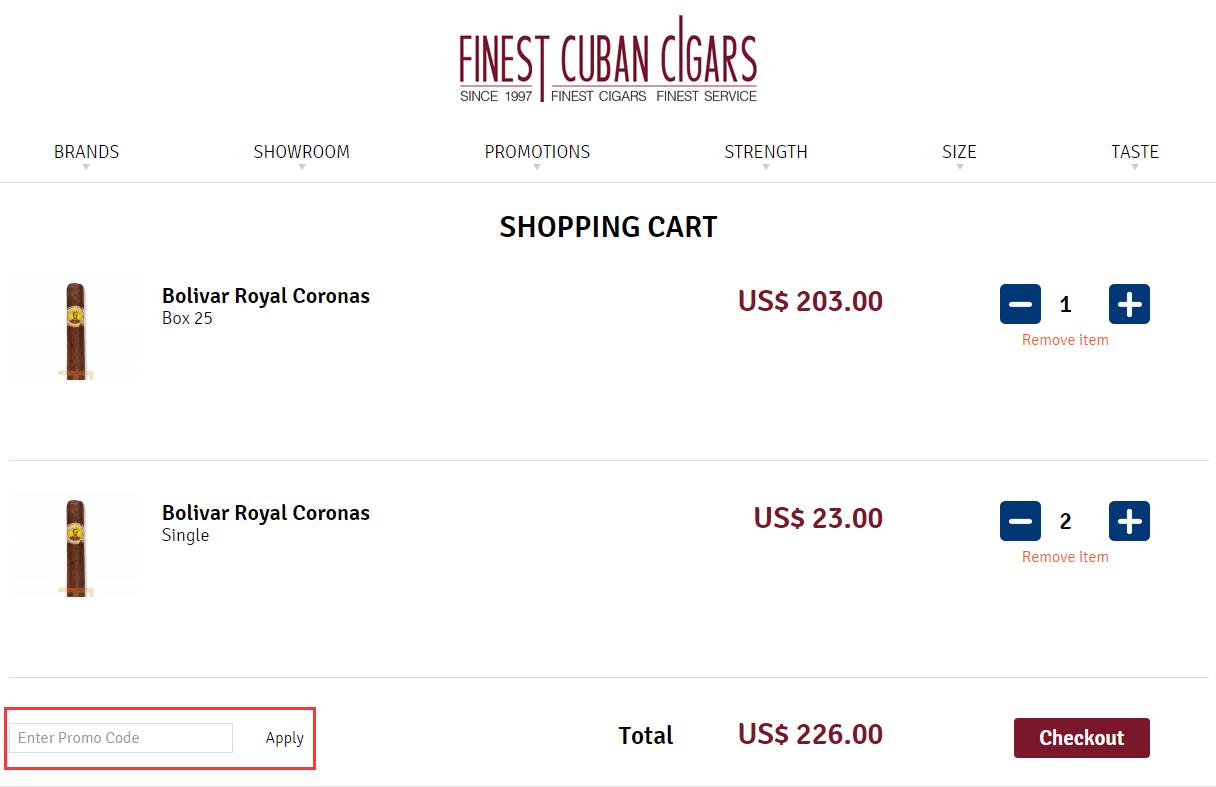 Finest Cuban Cigars Promo Code