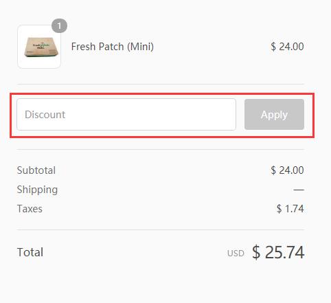 Fresh Patch Promo Code