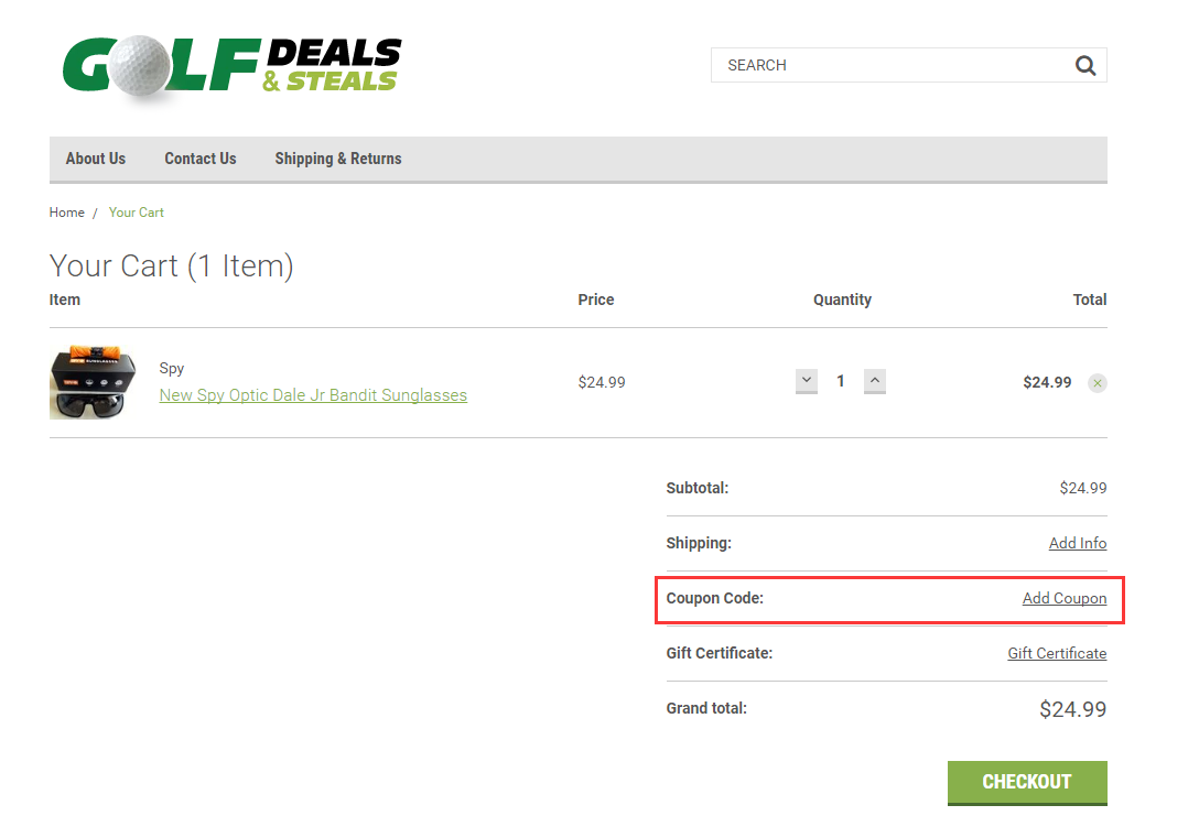 Golf Deals and Steals Promo Code