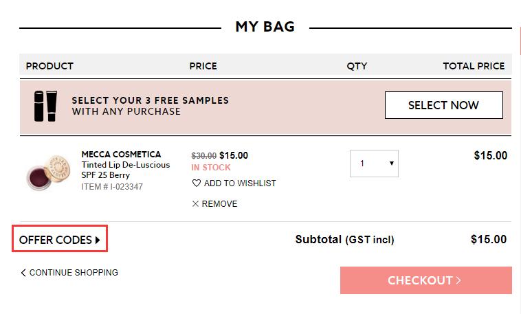 Mecca Cosmetica Discount Code