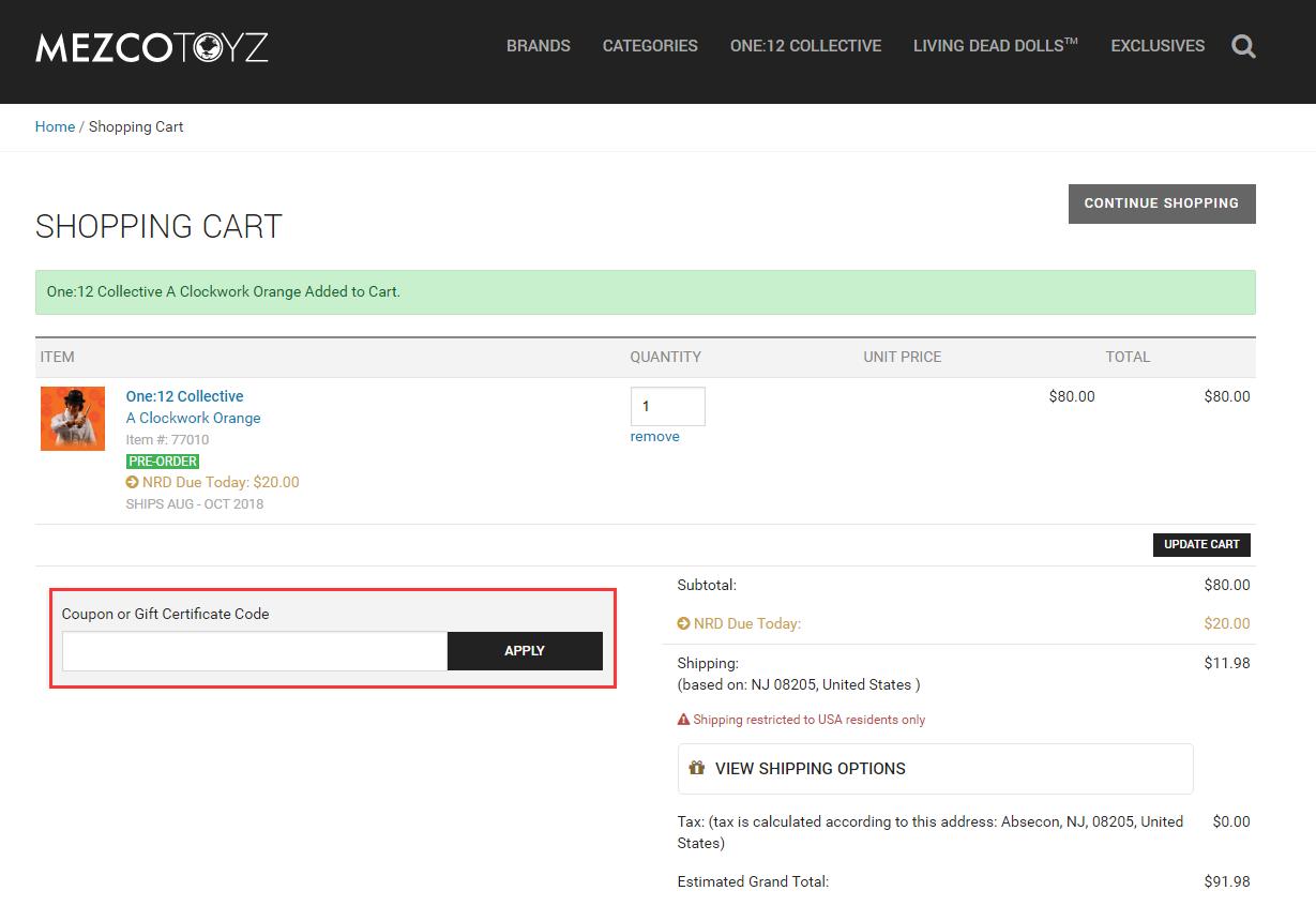 Mezco Toyz Promo Code