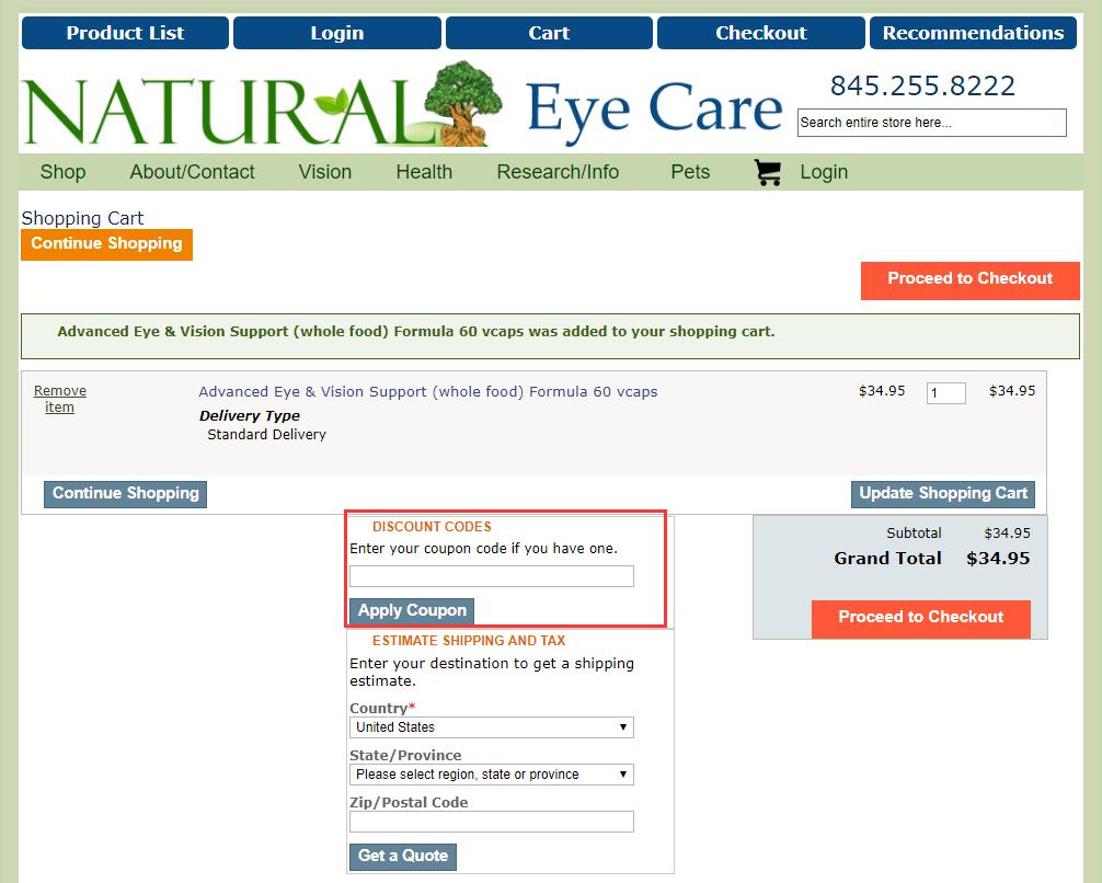 Natural Eye Care Promo Code