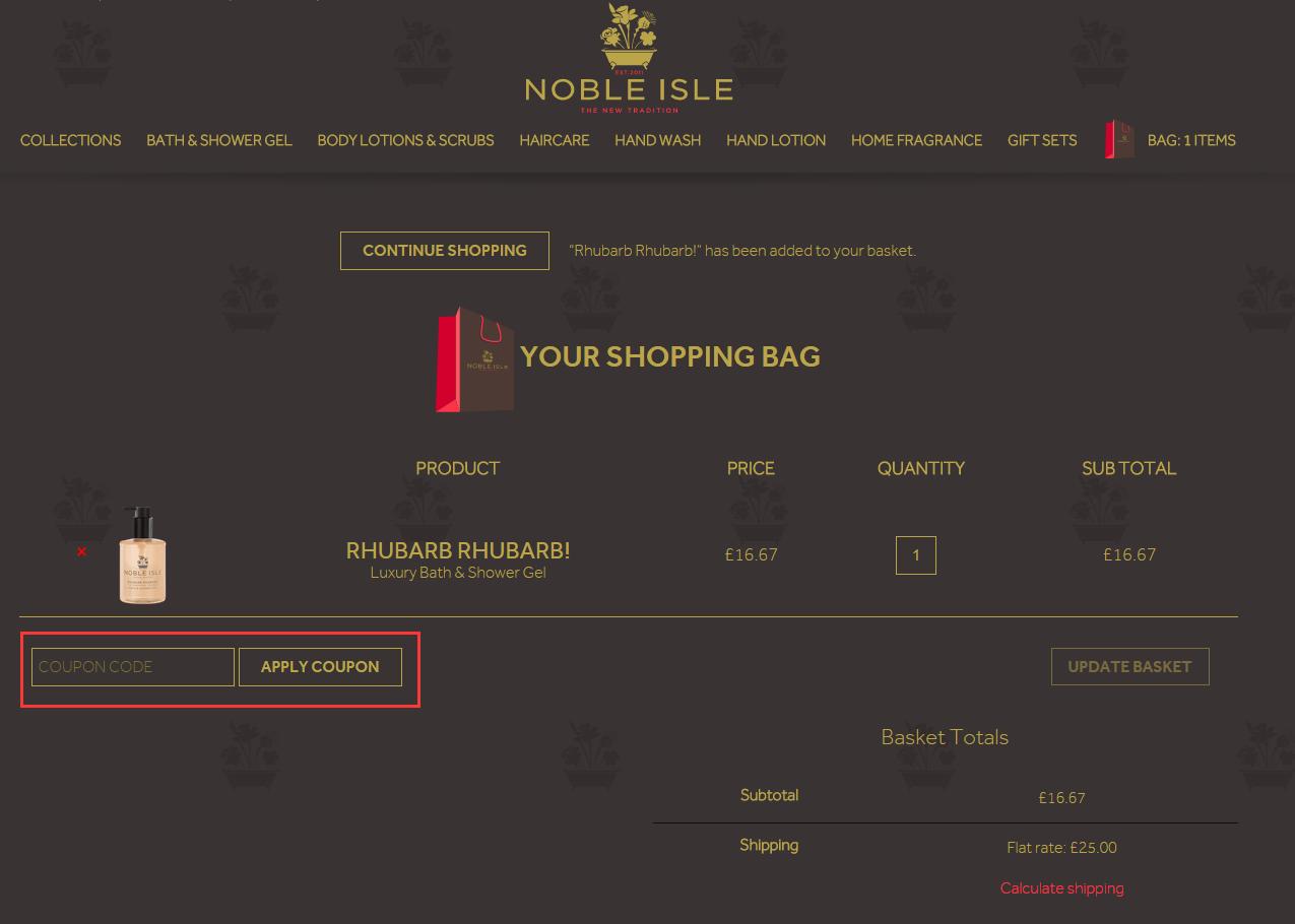 Noble Isle Discount Code