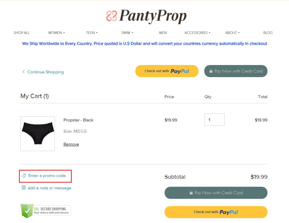 PantyProp Promo Code