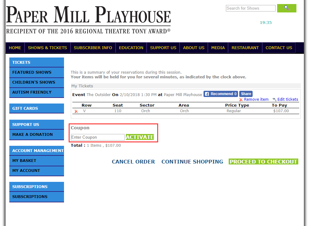 Paper Mill Playhouse Promo Code