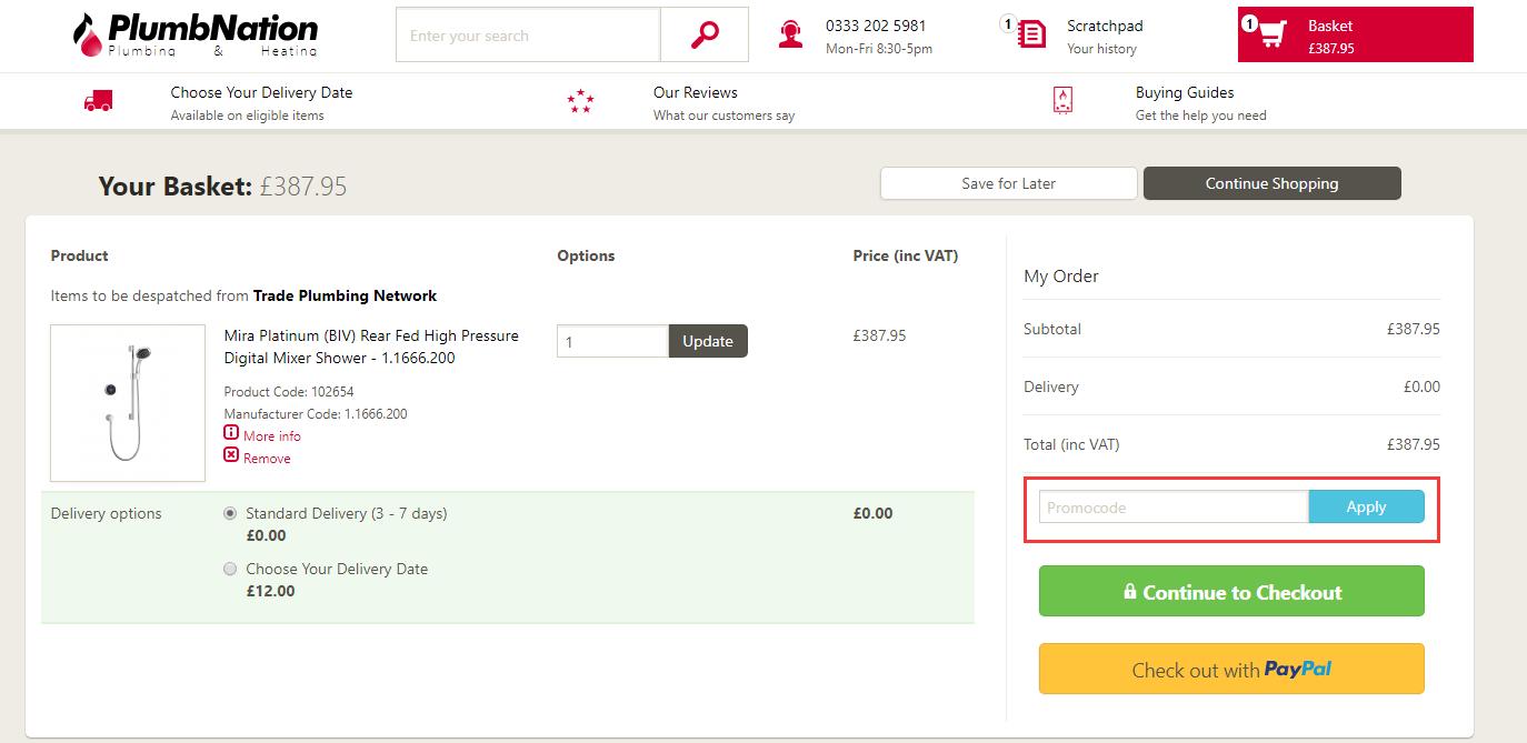 PlumbNation Discount Code