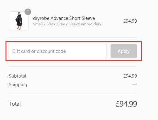 Dryrobe Discount Code