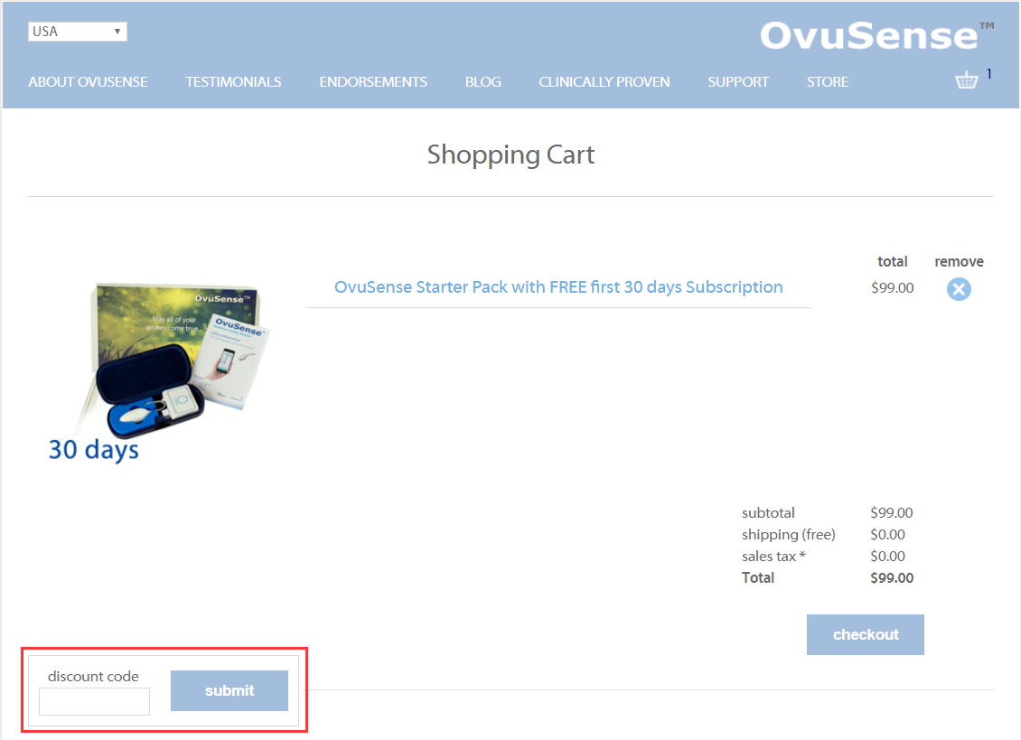 OvuSense Promo Code