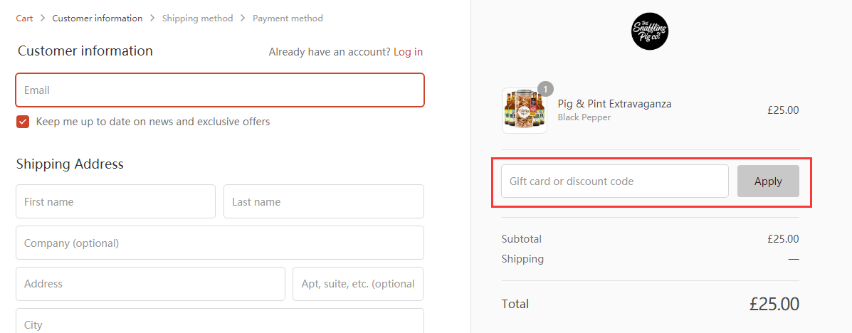 The Snaffling Pig Co Discount Code