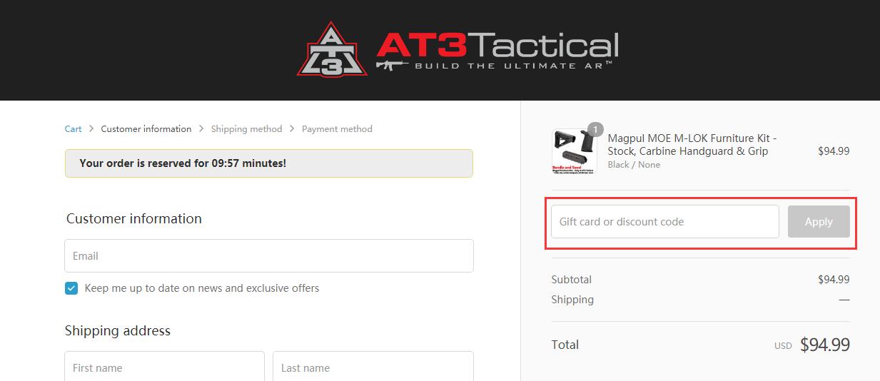 AT3 Tactical Promo Code