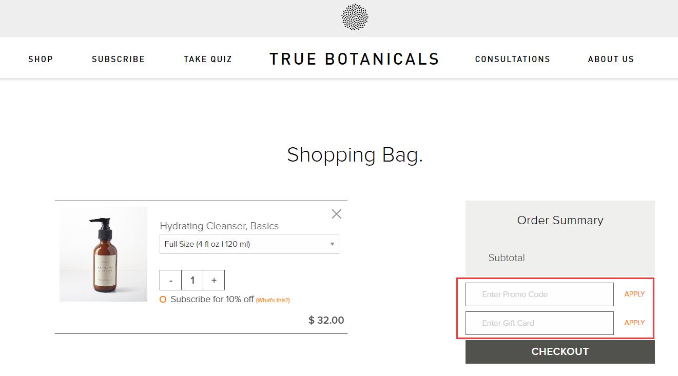 True Botanicals Promo Code