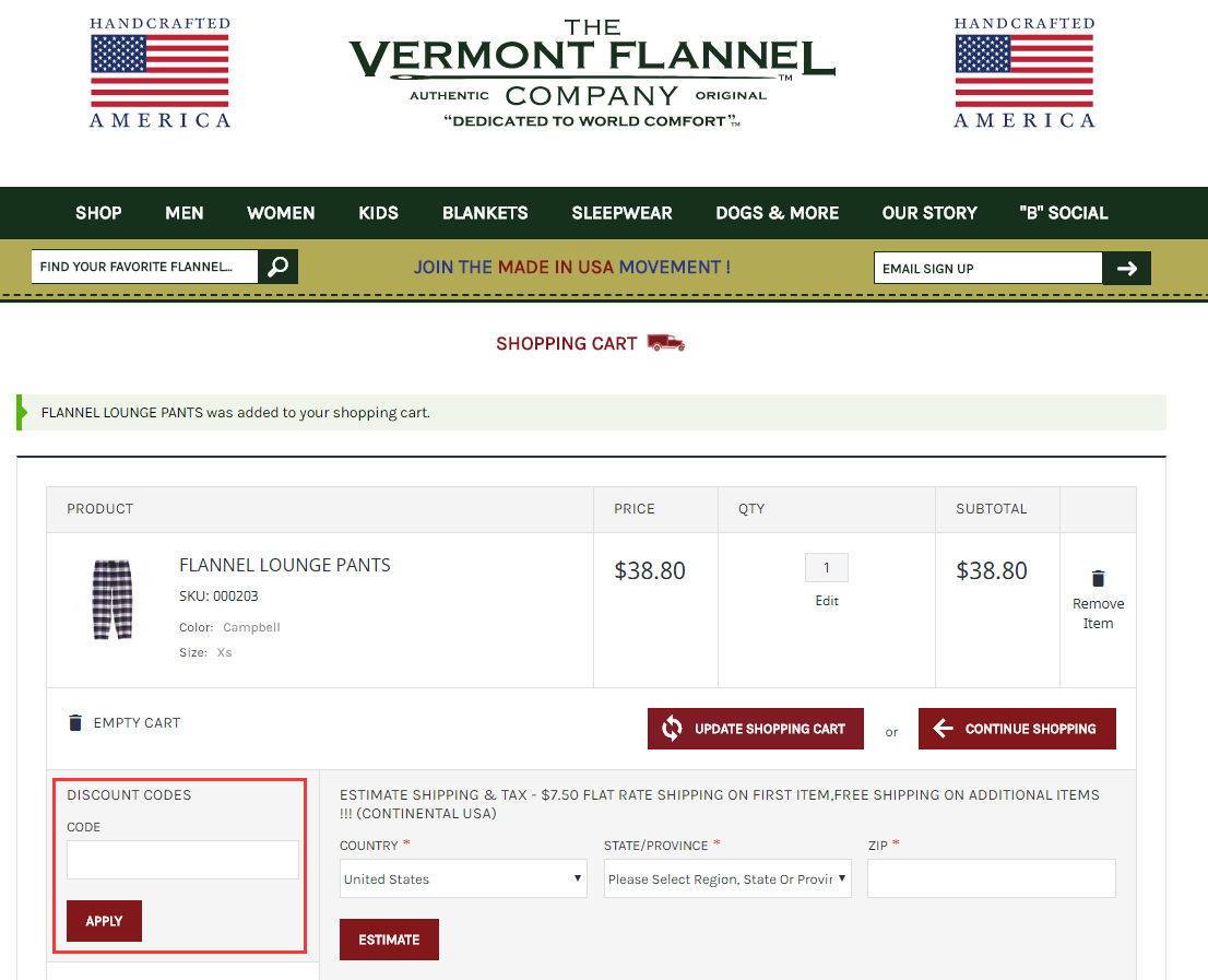 Vermont Flannel Promo Code