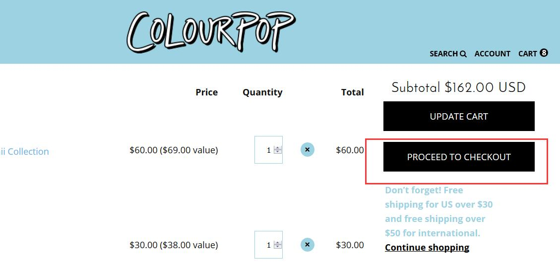 Colourpop coupon code