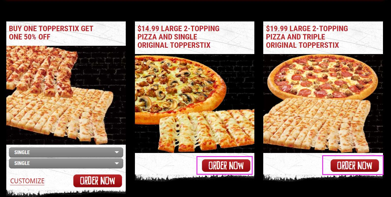 graphic regarding Toppers Pizza Place Printable Coupons known as Toppers Pizza Suitable Promo Codes 2019 5% OFF Coupon codes